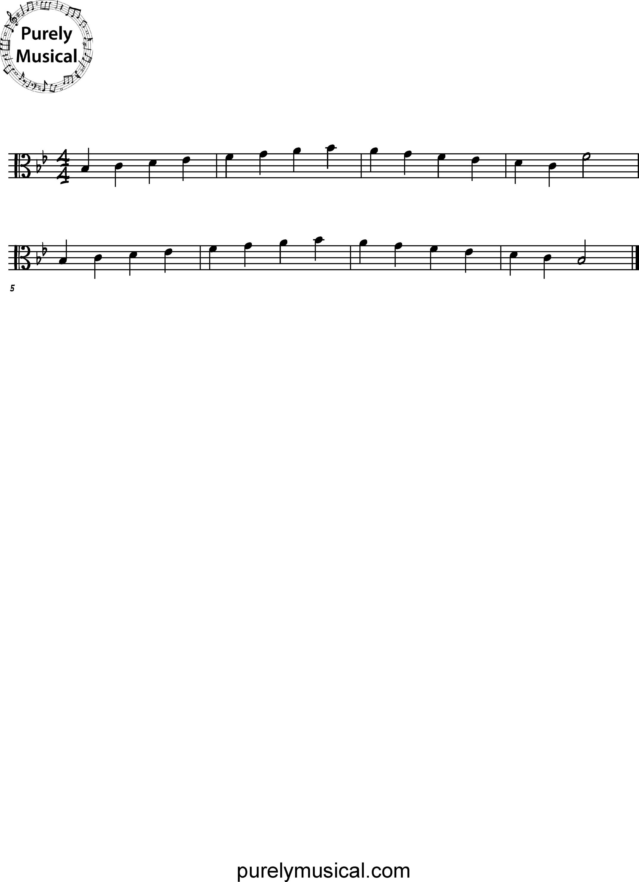 Beginner  Scale Bb Major